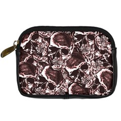 Skull Pattern Digital Camera Cases by ValentinaDesign