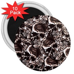 Skull Pattern 3  Magnets (10 Pack)  by ValentinaDesign