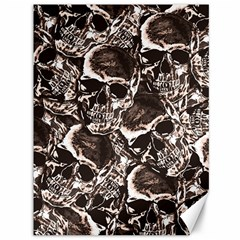 Skull Pattern Canvas 36  X 48   by ValentinaDesign