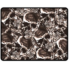 Skull Pattern Fleece Blanket (medium)  by ValentinaDesign