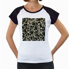 Skull Pattern Women s Cap Sleeve T by ValentinaDesign