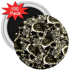 Skull Pattern 3  Magnets (100 Pack) by ValentinaDesign