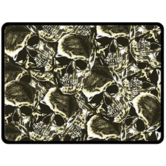 Skull Pattern Double Sided Fleece Blanket (large)  by ValentinaDesign