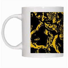 Skull Pattern White Mugs