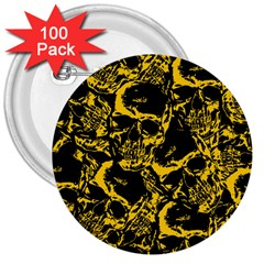Skull Pattern 3  Buttons (100 Pack)  by ValentinaDesign