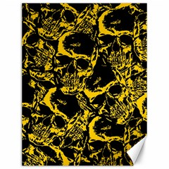 Skull Pattern Canvas 12  X 16   by ValentinaDesign