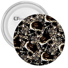 Skull Pattern 3  Buttons by ValentinaDesign