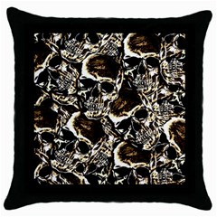 Skull Pattern Throw Pillow Case (black) by ValentinaDesign