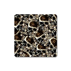 Skull Pattern Square Magnet by ValentinaDesign