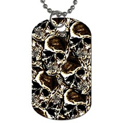 Skull Pattern Dog Tag (one Side) by ValentinaDesign