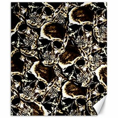 Skull Pattern Canvas 20  X 24   by ValentinaDesign