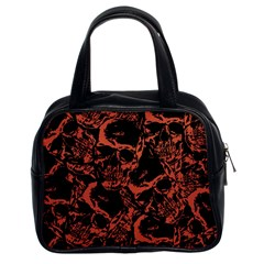 Skull Pattern Classic Handbags (2 Sides) by ValentinaDesign