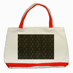 Floral Pattern Classic Tote Bag (red)