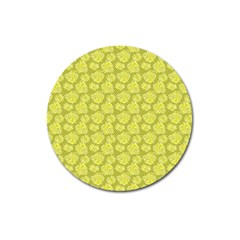 Floral Pattern Magnet 3  (round)