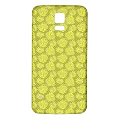 Floral Pattern Samsung Galaxy S5 Back Case (white) by ValentinaDesign