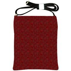 Floral Pattern Shoulder Sling Bags by ValentinaDesign