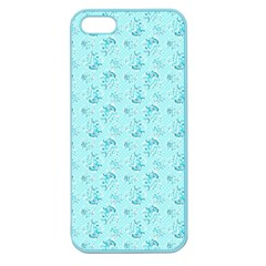 Floral Pattern Apple Seamless Iphone 5 Case (color) by ValentinaDesign