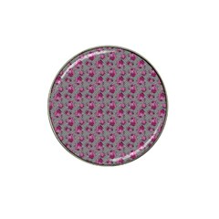 Floral Pattern Hat Clip Ball Marker
