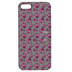 Floral Pattern Apple Iphone 5 Hardshell Case With Stand by ValentinaDesign