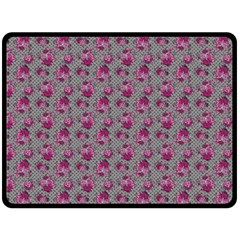 Floral Pattern Double Sided Fleece Blanket (large)  by ValentinaDesign