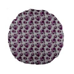 Floral Pattern Standard 15  Premium Round Cushions by ValentinaDesign