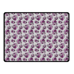 Floral Pattern Double Sided Fleece Blanket (small)  by ValentinaDesign