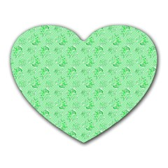 Floral Pattern Heart Mousepads by ValentinaDesign