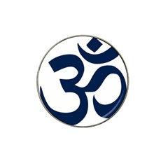 Hindu Om Symbol (dark Blue) Hat Clip Ball Marker (4 Pack) by abbeyz71