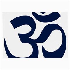 Hindu Om Symbol (dark Blue) Large Glasses Cloth by abbeyz71