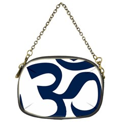 Hindu Om Symbol (dark Blue) Chain Purses (one Side)  by abbeyz71