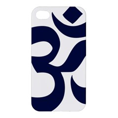 Hindu Om Symbol (dark Blue) Apple Iphone 4/4s Premium Hardshell Case by abbeyz71