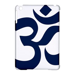 Hindu Om Symbol (dark Blue) Apple Ipad Mini Hardshell Case (compatible With Smart Cover) by abbeyz71