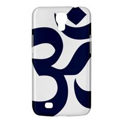 Hindu Om Symbol (dark Blue) Samsung Galaxy Mega 6 3  I9200 Hardshell Case by abbeyz71