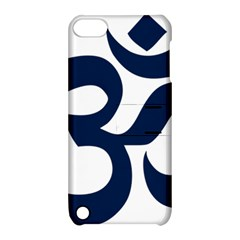 Hindu Om Symbol (dark Blue) Apple Ipod Touch 5 Hardshell Case With Stand by abbeyz71
