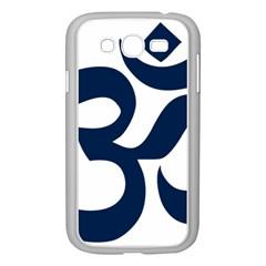 Hindu Om Symbol (dark Blue) Samsung Galaxy Grand Duos I9082 Case (white) by abbeyz71