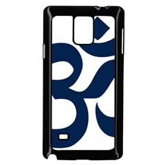 Hindu Om Symbol (dark Blue) Samsung Galaxy Note 4 Case (black) by abbeyz71