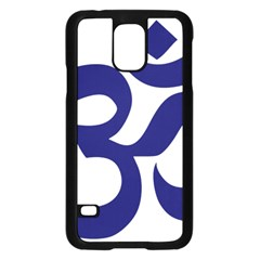 Hindu Om Symbol (midnight Blue) Samsung Galaxy S5 Case (black) by abbeyz71