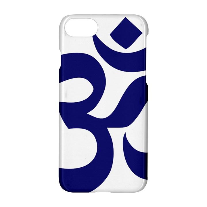 Hindu Om Symbol (Midnight Blue) Apple iPhone 7 Hardshell Case