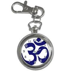 Om Symbol (midnight Blue) Key Chain Watches by abbeyz71