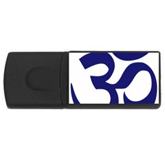 Om Symbol (midnight Blue) Usb Flash Drive Rectangular (4 Gb) by abbeyz71