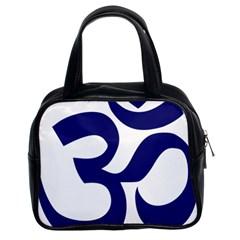Om Symbol (midnight Blue) Classic Handbags (2 Sides) by abbeyz71