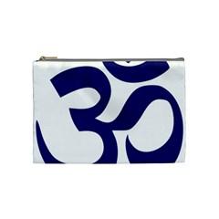 Om Symbol (midnight Blue) Cosmetic Bag (medium)  by abbeyz71