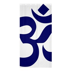 Om Symbol (midnight Blue) Shower Curtain 36  X 72  (stall)  by abbeyz71