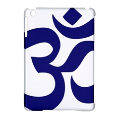 Om Symbol (Midnight Blue) Apple iPad Mini Hardshell Case (Compatible with Smart Cover) by abbeyz71
