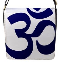 Om Symbol (midnight Blue) Flap Messenger Bag (s) by abbeyz71