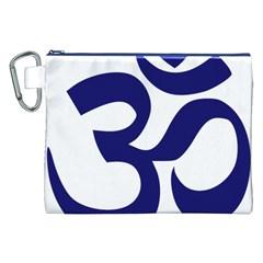 Om Symbol (midnight Blue) Canvas Cosmetic Bag (xxl) by abbeyz71