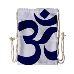 Om Symbol (midnight Blue) Drawstring Bag (small) by abbeyz71