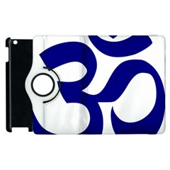 Om Symbol (navy Blue) Apple Ipad 3/4 Flip 360 Case by abbeyz71