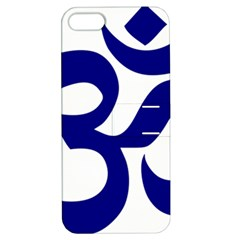 Om Symbol (navy Blue) Apple Iphone 5 Hardshell Case With Stand by abbeyz71