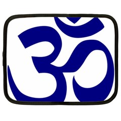 Om Symbol (navy Blue) Netbook Case (xl)  by abbeyz71